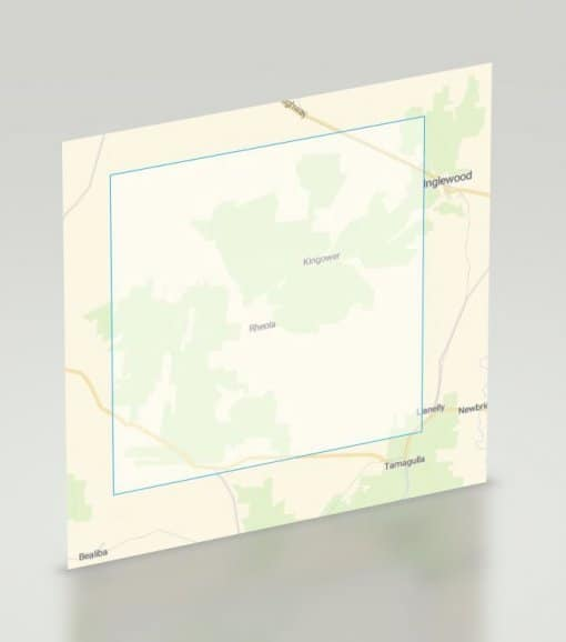 Kingower Gold Map