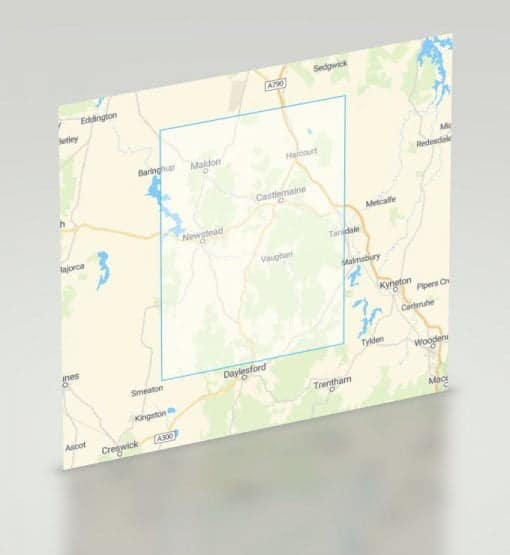 Castlemaine Gold Map